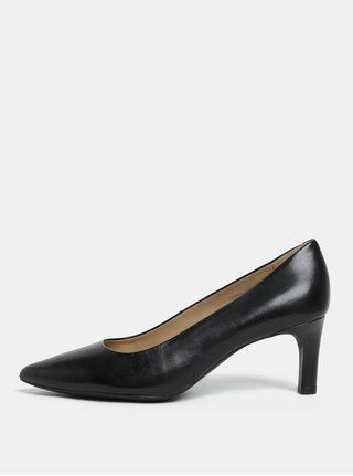 Pantofi negri din piele Geox Bibbiana