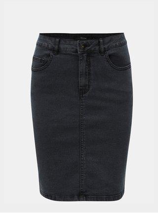 Tmavě šedá džínová sukně VERO MODA Hot Nine