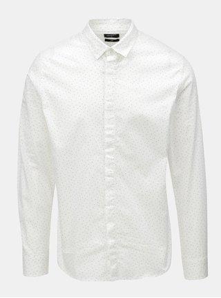 Bílá vzorovaná slim fit košile ONLY & SONS