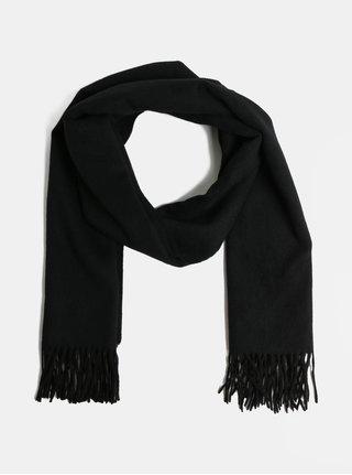 Esarfa neagra din lana Selected Femme