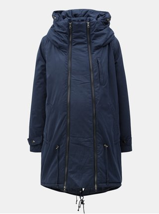 Modrá tehotenská/nosiaca parka s kapucňou Mama.licious