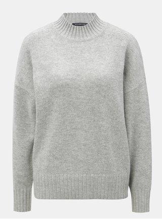 Sivý oversize sveter s prímesou vlny Selected Femme