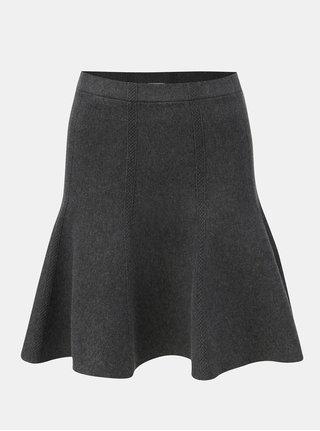 Tmavě šedá strukturovaná sukně VILA Perfecta