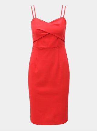 Červené šaty na ramienka Dorothy Perkins