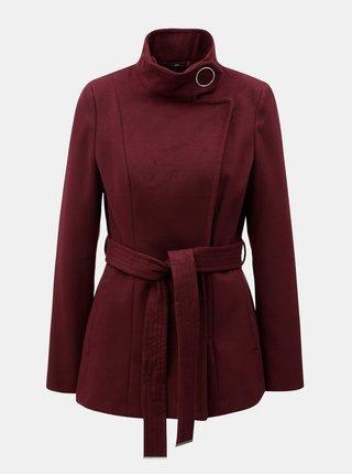 Vínový krátký kabát Dorothy Perkins