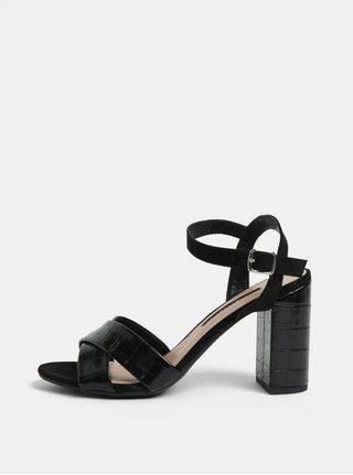 Sandale negre cu toc inalt Dorothy Perkins Serena