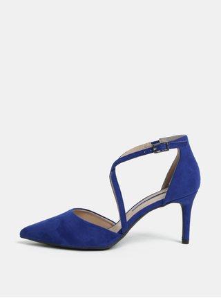 Sandale albastre din piele intoarsa cu toc cui Dorothy Perkins Elsa