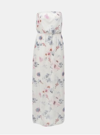 Rochie maxi roz-alb cu model floral Haily´s