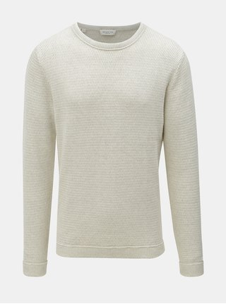 Krémový sveter s okrúhlym výstrihom Selected Homme Victor