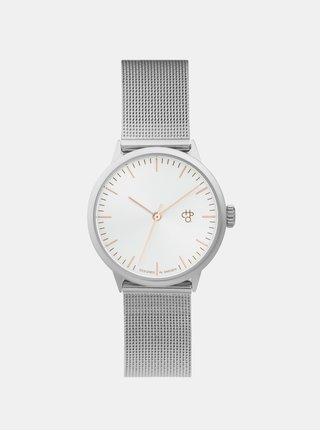 Ceas de dama argintiu cu bratara metalica -  CHPO Nando Mini Rose