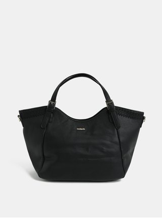 Čierna koženková prešívaná kabelka Desigual Amber