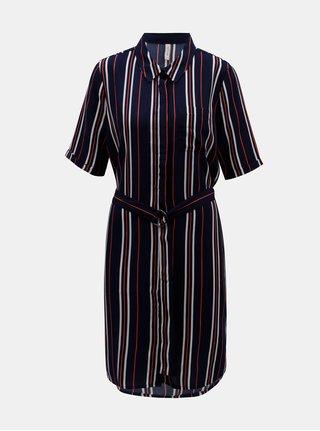 Tmavě modré pruhované košilové šaty Blendshe Salva