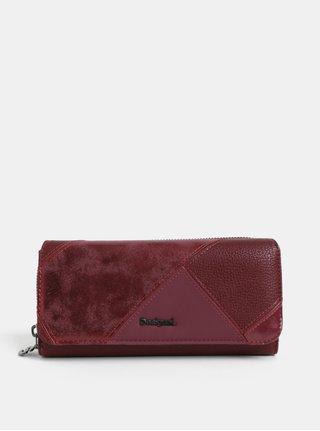 Vínová koženková prešívaná peňaženka Desigual Maria
