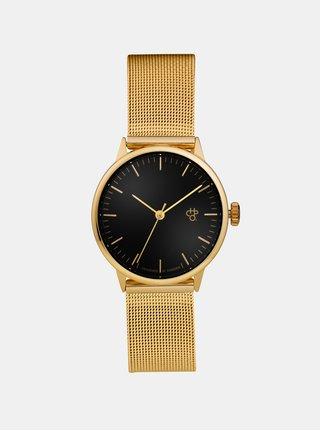 Dámske hodinky s nerezovým remienkom v zlatej farbe CHPO Nando Mini Gold