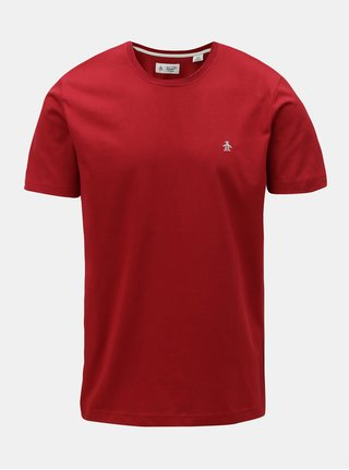 Červené basic tričko s krátkým rukávem Original Penguin Pin point