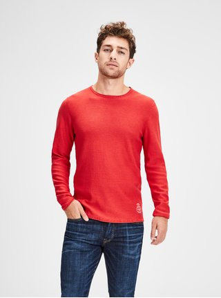 Pulover lejer rosu Jack & Jones Laundry