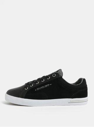 87d9c83a5e6 Černé pánské kožené tenisky Pepe Jeans North