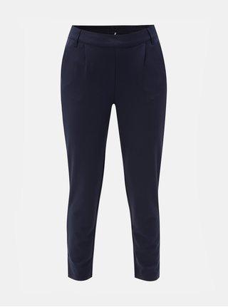 Tmavě modré zkrácené kalhoty s vysokým pasem Jacqueline de Yong Betty