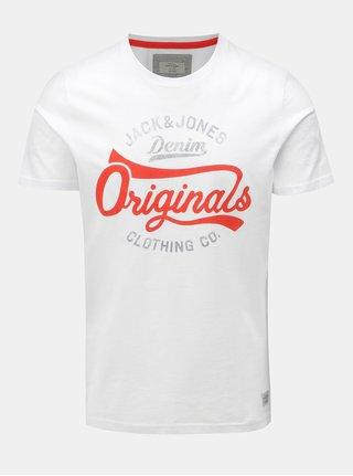 db9af9a94b Biele tričko s potlačou a s krátkym rukávom Jack   Jones Fara Tee