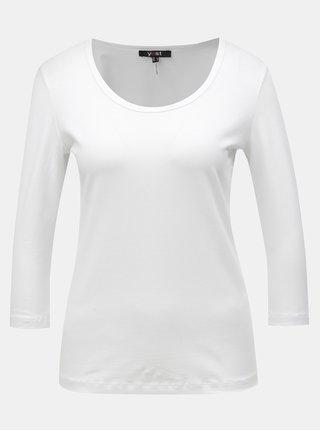 Biele basic tričko s 3/4 rukávom Yest