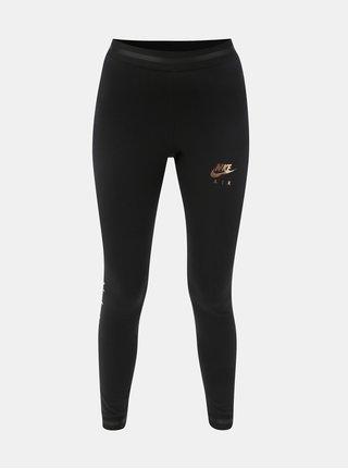 Čierne dámske legíny s potlačou Nike Air