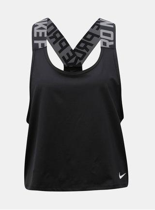 Maiou de dama negru functional crop Nike Pro Intertwist