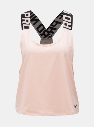 Maiou de dama roz piersica functional crop Nike Pro Intertwist