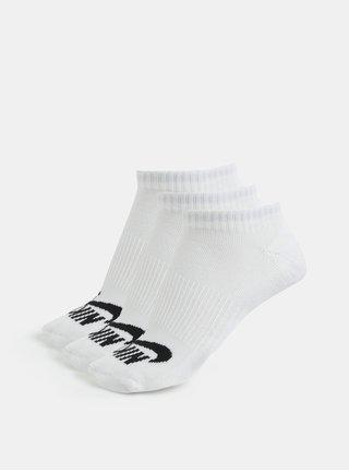 Súprava troch párov členkový unisex ponožiek v bielej farbe Nike SB