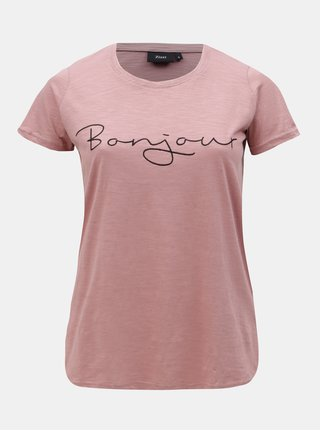 Staroružové tričko s výšivkou Zizzi Bon