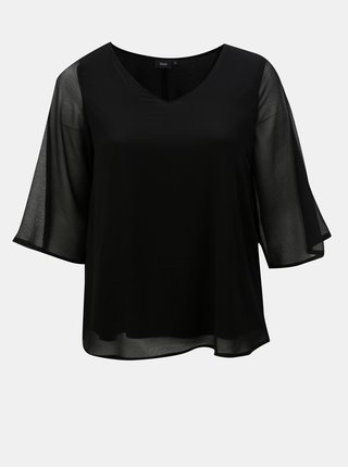Bluza neagra cu maneci 3/4 Zizzi Sissa
