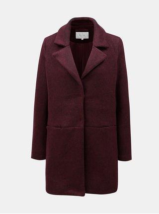 Vínový lehký kabát  s kapsami VILA Dory