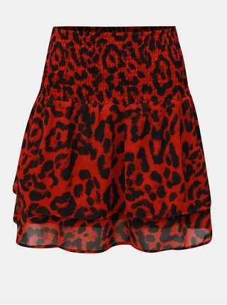 Černo-červená vzorovaná sukně s pružnou gumou v pase Noisy May Jean