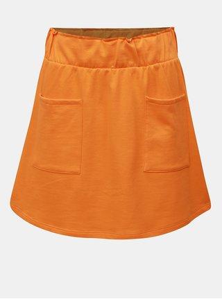 Oranžová sukňa s vreckami Noisy May Lily