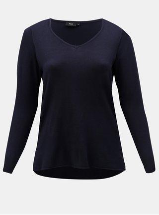 Tmavomodrý tenký sveter s predĺženou zadnou časťou Zizzi Cilla