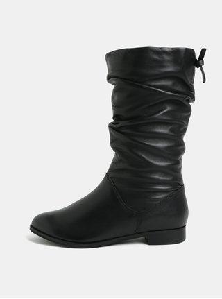 Čierne kožené nízke čižmy Dune London