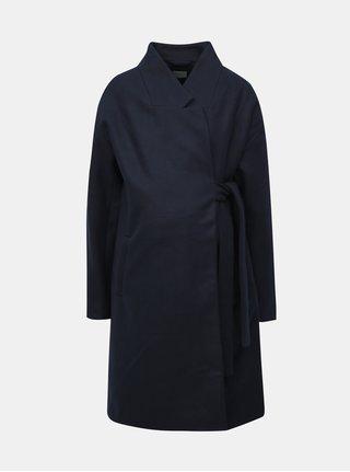 Tmavomodrý tehotenský kabát s opaskom Mama.licious Hazel