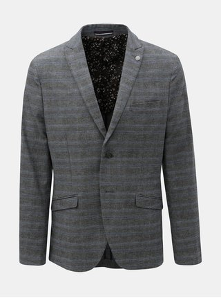 Sacou gri in carouri Selected Homme Slim