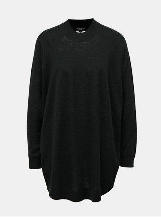 Čierny oversize vlnený sveter Selected Femme