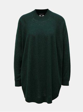 Zelený oversize vlnený sveter Selected Femme