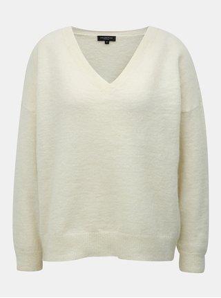 Krémový sveter s prímesou vlny a mohéru Selected Femme Flivana