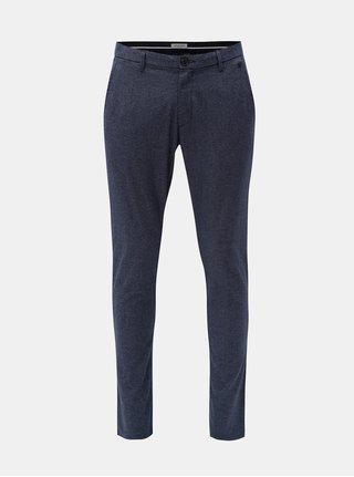 Modré melírované slim fit nohavice Selected Homme