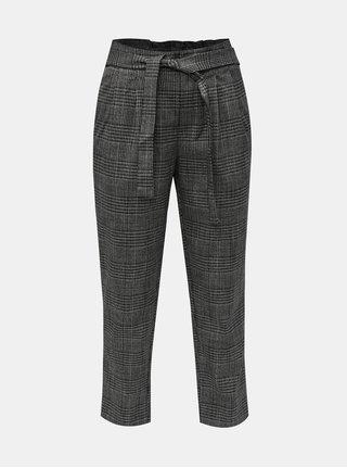 Šedé vzorované zkrácené kalhoty ONLY Florence