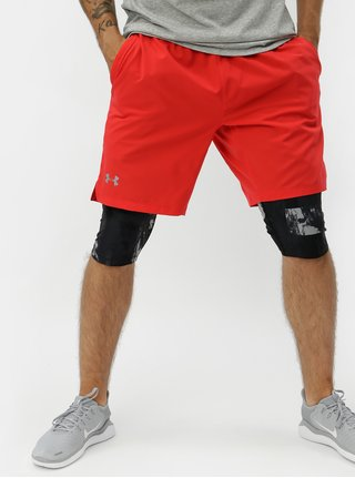 Pantaloni scurti sport rosii cu print abstract Under Armour Launch