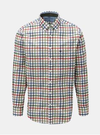Modro-krémová vzorovaná casual fit košeľa Fynch-Hatton