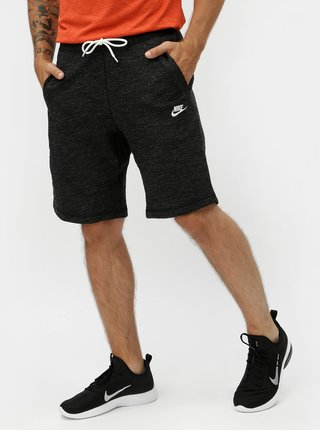 Tmavosivé pánske melírované teplákové kraťasy Nike