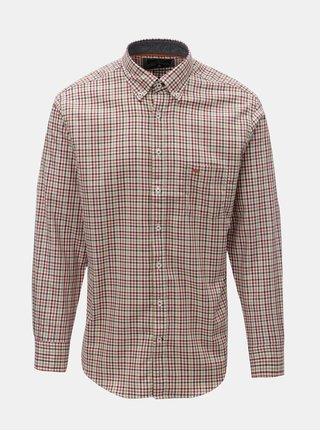 Krémovo-oranžová vzorovaná casual fit košile Fynch-Hatton