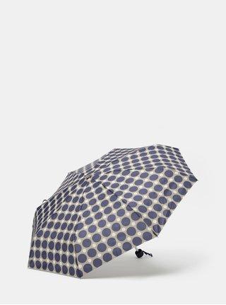 Sivo-modrý skladací bodkovaný dáždnik Rainy Seasons