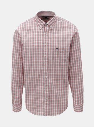Ružová vzorovaná casual fit košeľa Fynch-Hatton