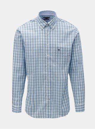 Modrá vzorovaná casual fit košeľa Fynch-Hatton