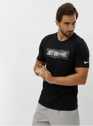 Tricou barbatesc negru functional Nike Block Camo